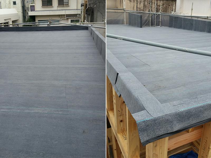 那覇市木造住宅の屋根